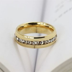 Jewelry - Unisex Stainless Steel Men's Diamond Ring